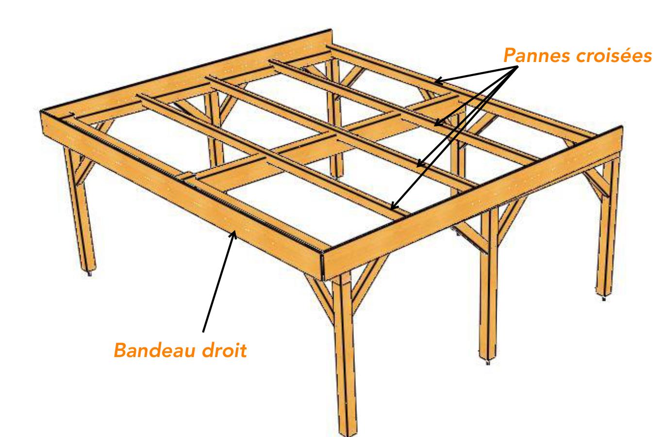 Charpente pour abri bois avec toit plat - vente en ligne d ...