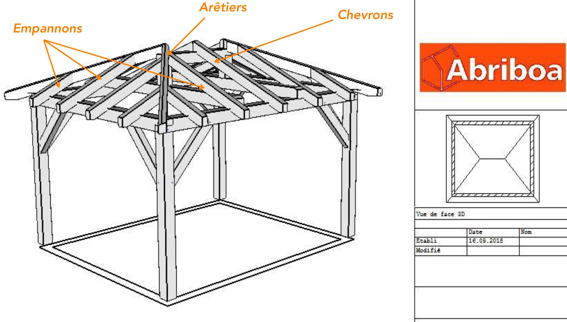 Charpente Bois Toit 4 Pentes   Idées décoration - Idées décoration