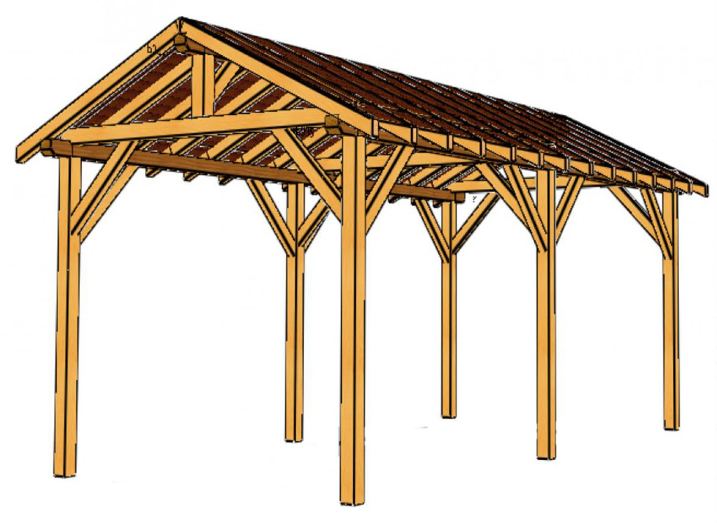Charmant ... Pergola Avec Couverture Polycarbonate Kit Complet 8 ... Photo